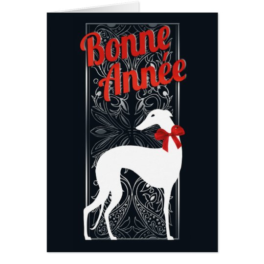 Carte de vœux Greyhounden fête