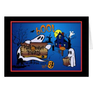 Carte de voeux heureuse de Halloween pour des
