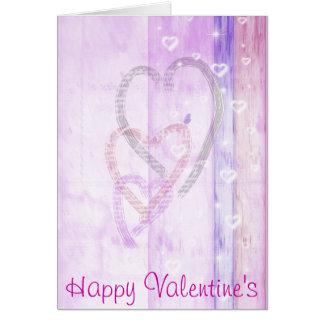 Carte de voeux heureuse de Valentine