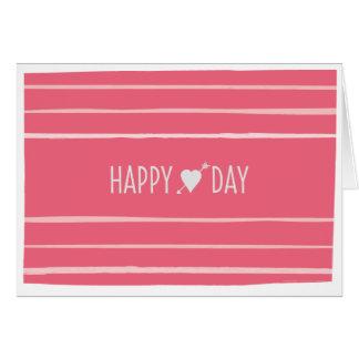 Carte de voeux heureuse de Valentine de jour de