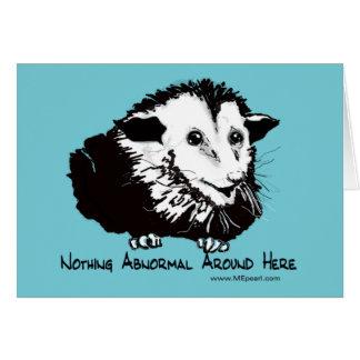 Carte de voeux humoristique d'opossum
