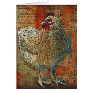 Carte de voeux impressionnante de poulet