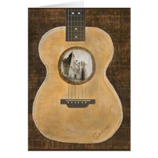 Carte de voeux irlandaise de guitare acoustique de