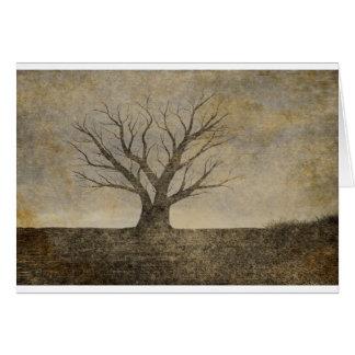 Carte de voeux isolée d'arbre