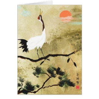 Carte de voeux japonaise de grue