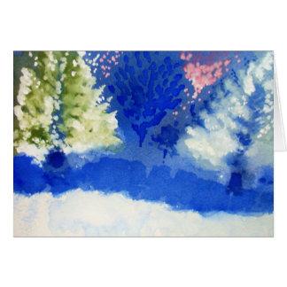 carte de voeux joyeuse d'arbres pour la saison des