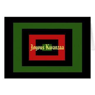 Carte de voeux joyeuse de Kwanzaa