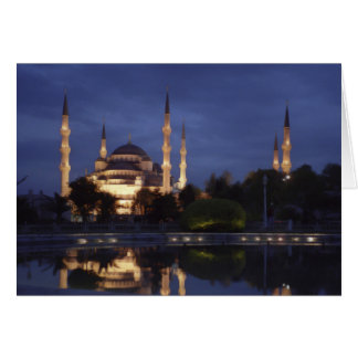 Carte de voeux : la mosquée bleue la nuit