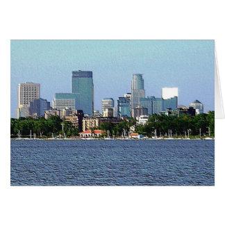 Carte de voeux : Lac Calhoun - Minneapolis,