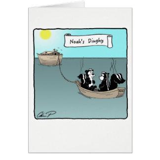 Carte de voeux : Le canot de Noé