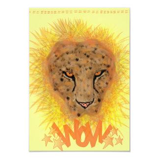 Carte de voeux léopard carton d'invitation 8,89 cm x 12,70 cm
