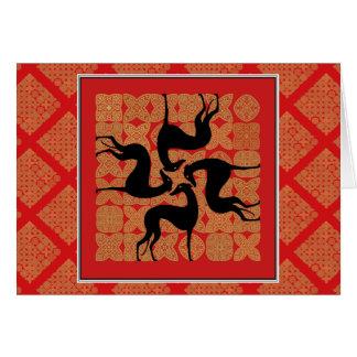 Carte de vœux Lévrier