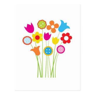 Carte de voeux lumineuse avec des fleurs et des carte postale