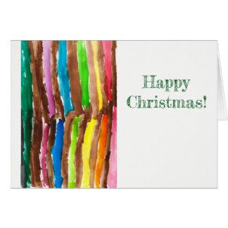 Carte de voeux lumineuse de Noël de vacances