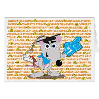 Carte de voeux lunatique d'obtention du diplôme