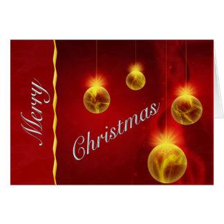 Carte de voeux majestueuse de boules de Noël de