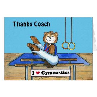 Carte de voeux masculine de gymnaste pour