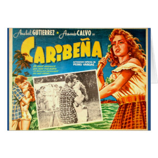 Carte de voeux mexicaine vintage d'affiche de film