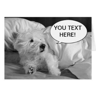 Carte de voeux mignonne de chien de Westie
