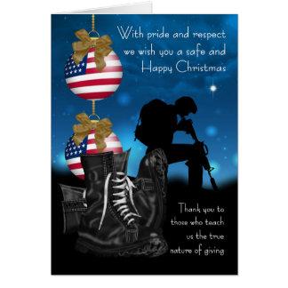 Carte de voeux militaire de Noël avec fierté