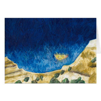 Carte de voeux - mouette et falaises