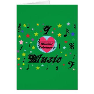 """Carte de voeux musicale aime musique de vies """"je"""""""
