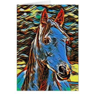 Carte de voeux mystique de blanc de cheval