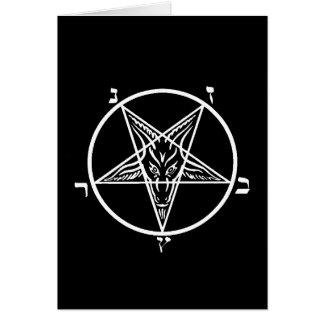 Carte de voeux noire de blanc en métal