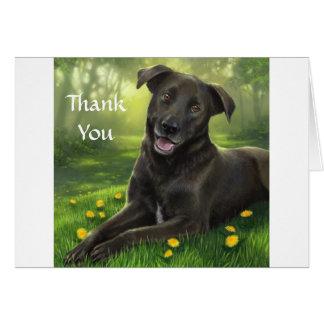 Carte de voeux noire de labrador retriever de