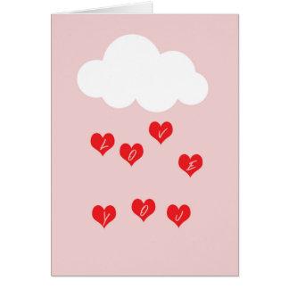 Carte de vœux nuage d'amour