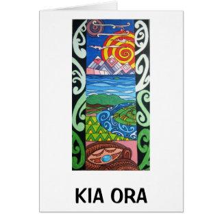 Carte de voeux - NZ- Kiaora - Arohanui