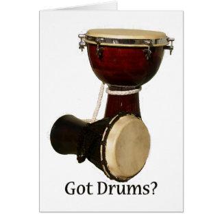 Carte de voeux obtenue de tambours