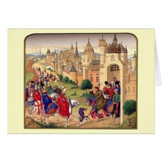 Carte de voeux orientée médiévale