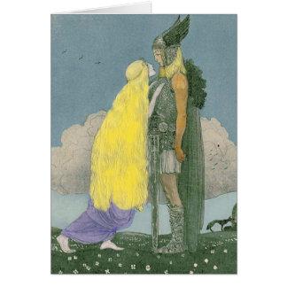 Carte de voeux païenne des norses de Freya de