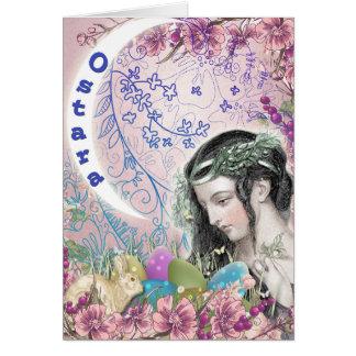Carte de voeux païenne d'Ostara