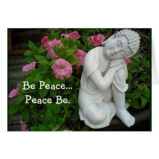 Carte de voeux paisible de Bouddha