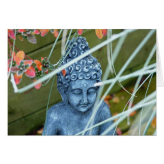 Carte de voeux paisible de Bouddha de jardin