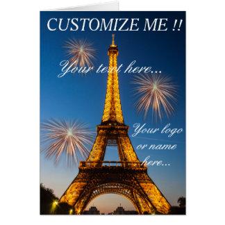 Carte de vœux Paris - Tour Eiffel #1