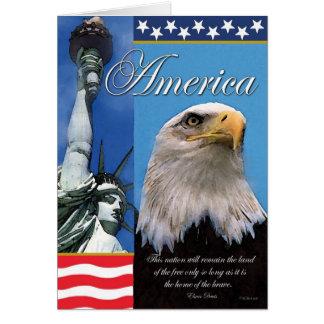 Carte de voeux patriotique de l'Amérique