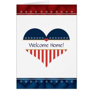 Carte de voeux patriotique de maison d'accueil de