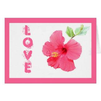 Carte de voeux personnalisable d'amour de ketmie
