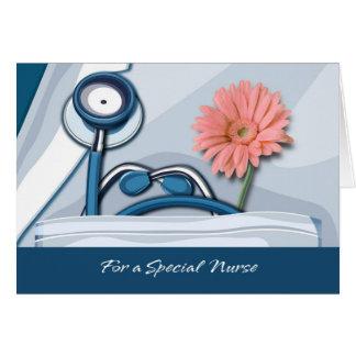 Carte de voeux personnalisable d'infirmière de