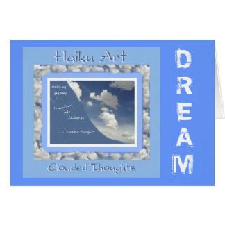 Carte de voeux personnalisable rêveuse de Haiku