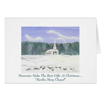 Carte de voeux personnelle de Noël