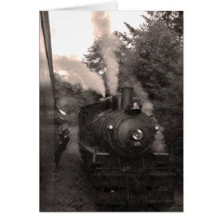 Carte de voeux pittoresque de chemin de fer de