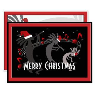 Carte de voeux plate de Noël de Kokopelli