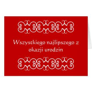 Carte de voeux polonaise d'anniversaire