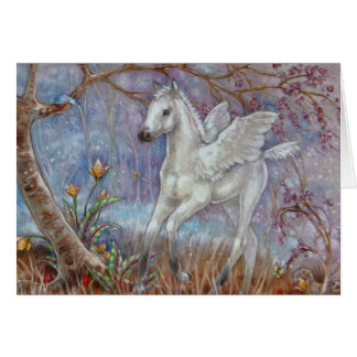Carte de voeux - poulain de Pegasus