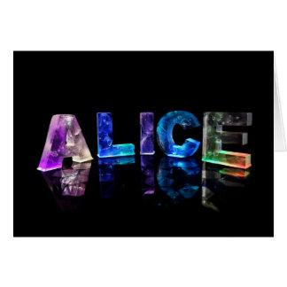 Carte de voeux pour Alice