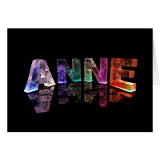 Carte de voeux pour Anne